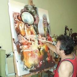 Avila pintando