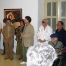 Ávila y Toni Piñera en la exposición.