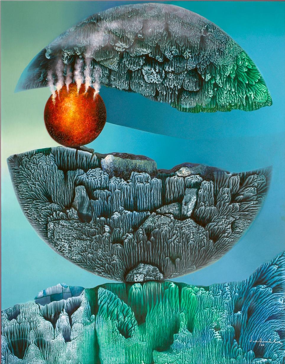 La Tierra encendida en medio del universo.