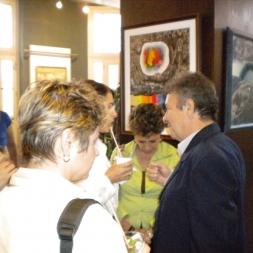 Durante la expo Más allá de lo abstracto.