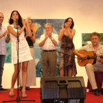 La cantaora Laurita Vital en plena actuación.
