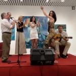 """La bailaora Yolanda Lorenzo, """"Yoly"""" y el vituoso guitarrista Eduardo Rebollar también deleitaron con su actuación."""