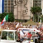 Su Santidad, Juan Pablo II en su visita a La Habana.