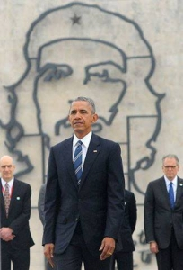 Obama en la Plaza de la Revolución.