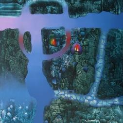 Caminos por andar No. II (óleo y acrílico sobre tela 100 x 81 cm)