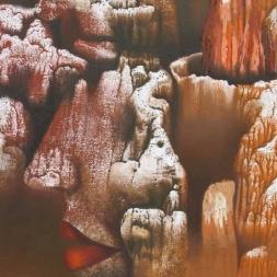 La dama del desierto óleo sobre tela 75 x 60 cm)