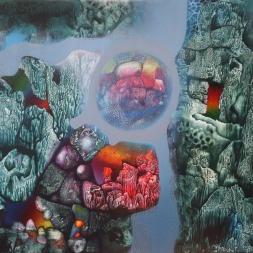 De la serie Mundos infinitos(óleo y acrílico sobre tela 60 x 80 cm)