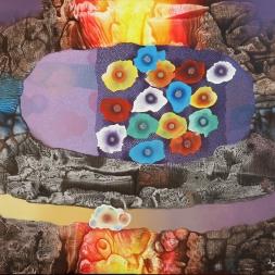 Sinfonía del color (óleo y acrílico sobre tela 81 x 100 cm)