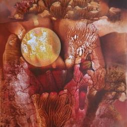 Esfera de luz (óleo y acrílico sobre tela 73 x 58 cm)