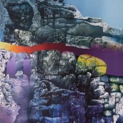 De la serie Espacios No II (óleo y acrílico sobre tela/ 76 x 61 cm)