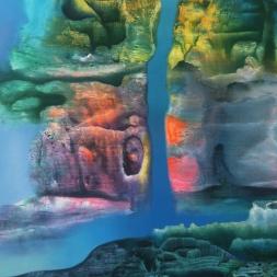 Espacio onírico (óleo y acrílico sobre tela/ 63.5 x 49.5 cm)