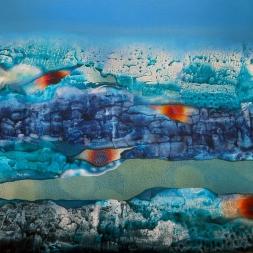 Nuevos horizontes  (óleo y acrílico sobre tela/ 81 x 114 cm)